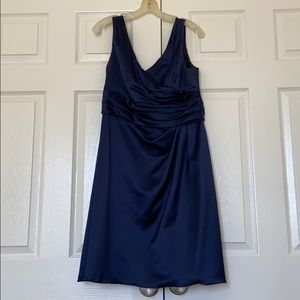Davids Bridal Navy Bridesmaid Dress